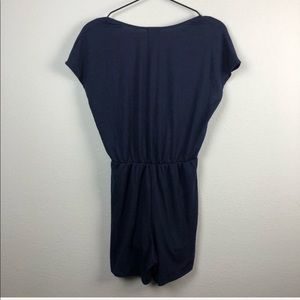 Urban Outfitters Pants - Urban Outfitters V Neck Short Sleeve Romper Blue